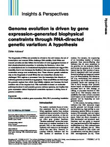 Genome evolution is driven by gene expression ... - Wiley Online Library
