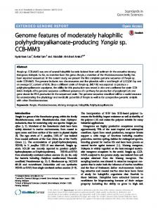 Genome features of moderately halophilic