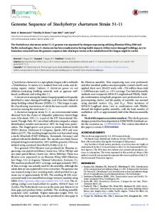 Genome Sequence of Stachybotrys chartarum ... - Semantic Scholar