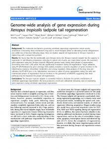 Genome-wide analysis of gene expression during Xenopus tropicalis ...