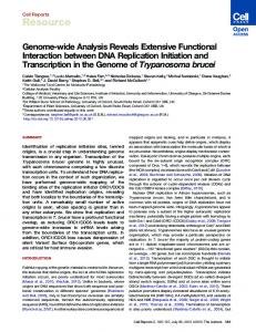 Genome-wide Analysis Reveals Extensive Functional Interaction ...