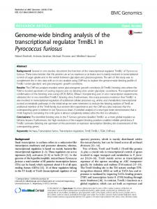 Genome-wide binding analysis of the transcriptional