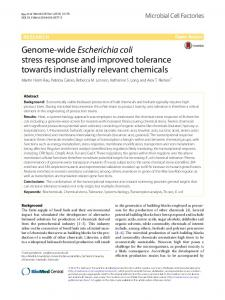 Genome-wide Escherichia coli stress response ... - Semantic Scholar