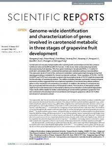Genome-wide identification and characterization of genes ... - Nature