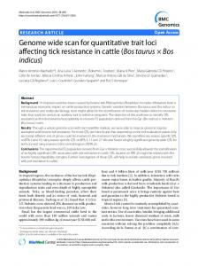 Genome wide scan for quantitative trait loci affecting ... - BioMed Central