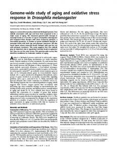 Genome-wide study of aging and oxidative stress ... - Semantic Scholar