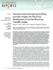 Genome-wide transcriptome profiling provides insights into floral bud ...