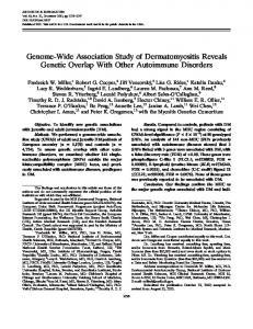 GenomeWide Association Study of ... - Wiley Online Library
