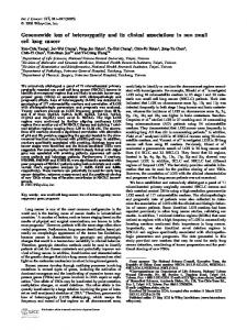 Genomewide loss of heterozygosity and its ... - Wiley Online Library