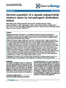 Genomic acquisition of a capsular polysaccharide ... - BioMedSearch