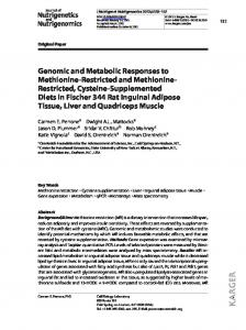 Genomic and Metabolic Responses to Methionine ...
