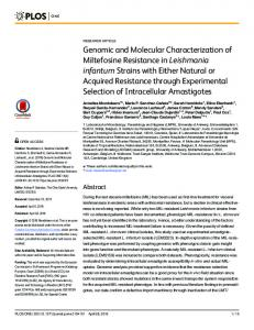 Genomic and Molecular Characterization of