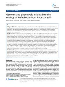 Genomic and phenotypic insights into the ecology of ... - Springer Link