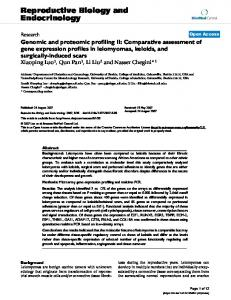 Genomic and proteomic profiling II: Comparative assessment of gene ...