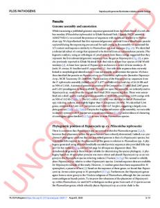 Genomic and transcriptomic evidence for descent from ... - PLOSwww.researchgate.net › publication › fulltext › Genomic-