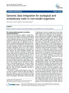 Genomic data integration for ecological and ... - BMC Genomics