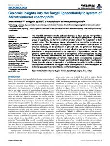 Genomic insights into the fungal lignocellulolytic system of ... - Core