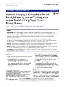Genomic Integrity Is Favourably Affected by High-Intensity Interval ...
