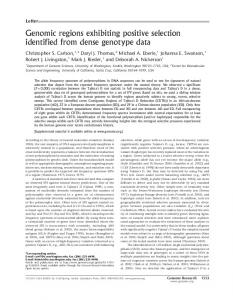 Genomic regions exhibiting positive selection ... - Semantic Scholar