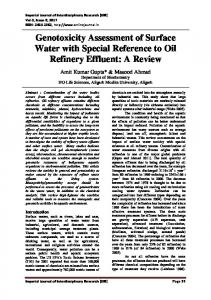 Genotoxicity Assessment of Surface Water with