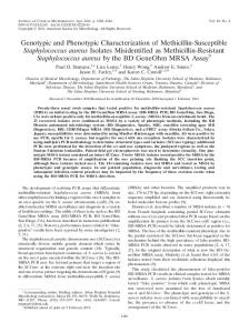 Genotypic and Phenotypic Characterization of Methicillin-Susceptible ...