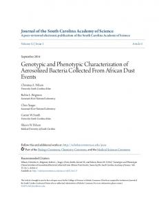 Genotypic and Phenotypic Characterization of ... - Scholar Commons