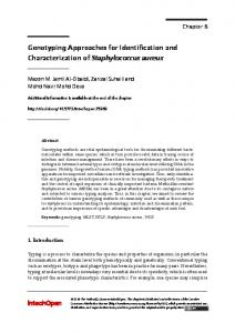 Genotyping Approaches for Identification and ...