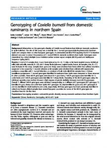 Genotyping of Coxiella burnetii from domestic ... - Springer Link