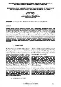 geo-information based spatio-temporal modeling of urban land use ...