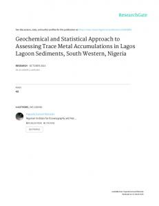 Geochemical and Statistical Approach to Assessing ...