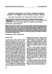 Geochemical discrimination of the Upper Ordovician Kinnekulle ...