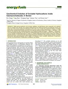 Geochemical Evolution of Occluded Hydrocarbons ... - ACS Publications