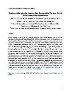 Geochemical investigation of gabbro from slow-spreading ... - DRS@nio