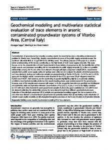 Geochemical modeling and multivariate statistical ... - BioMedSearch