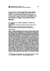 Geochemistry of Suspended Particulate Matter (SPM) in the Murray ...
