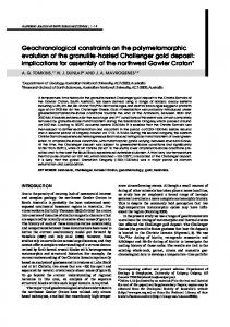 Geochronological constraints on the ... - Wiley Online Library