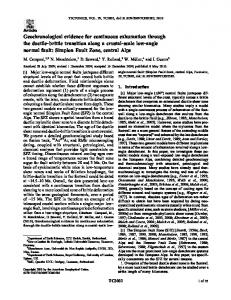 Geochronological evidence for continuous ... - Wiley Online Library