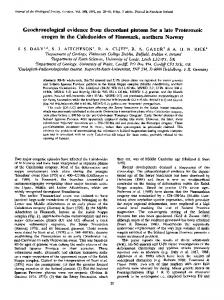 Geochronological evidence from discordant plutons for a late ...