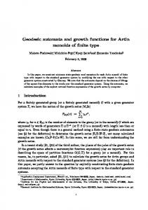 Geodesic automata and growth functions for Artin monoids of finite type