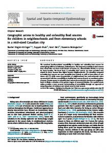Geographic access to healthy and unhealthy food sources for ... - Core