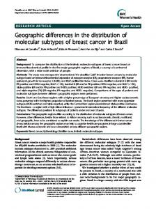 Geographic differences in the distribution of ... - BioMedSearch