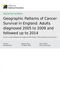 Geographic Patterns of Cancer Survival in England