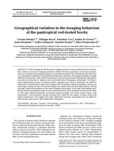 Geographical variation in the foraging behaviour of the pantropical red ...