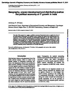 Geography, uneven development and distributive justice: the ...