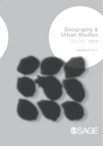 Geography & Urban Studies 2013 - Sage Publications