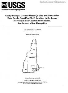 Geohydrologic, GroundWater Quality, and