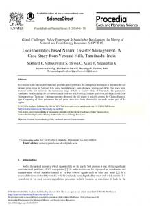 Geoinformatics Based Natural Disaster Management ... - ScienceDirect