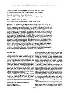 Geologic and topographic controls on fast flow ... - Wiley Online Library