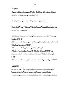 Geology and thermochronology of Tertiary Cordilleran-style ...