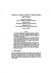Geometric Accuracy Analysis for Discrete Surface Approximation